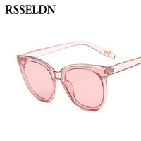 RSSELDN Summer 2017 Women Cat Eye Brand Designer Round Sunglasses
