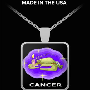 Zodiac Cancer Pendant Necklace