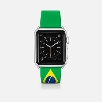 Brazil flag - Patriot collection Apple Watch Band (42mm)  by WAMDESIGN | Casetify