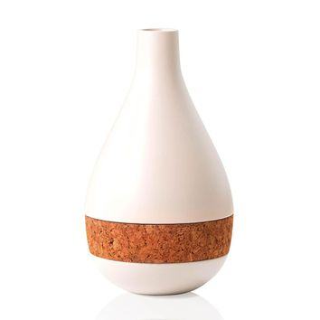 Horizon Ceramic & Cork Vase