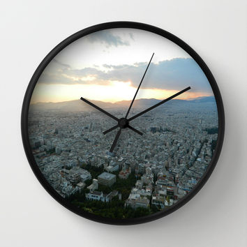 Up Above Wall Clock by Kelli Schneider