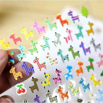 Owl Giraffe Print Memo Sticker Drawing Market Diary Transparent Scrapbooking Calendar Album Decor Stationery Sticker 1 Sheet