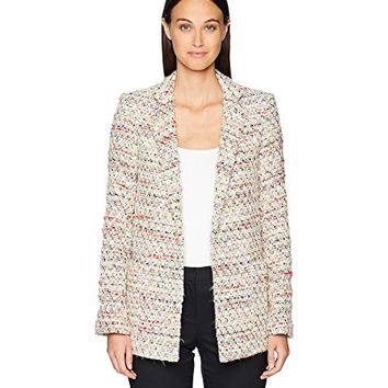 Adam Lippes Cotton Tweed Long Blazer