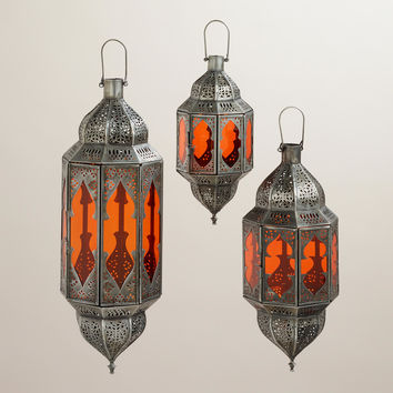 Orange Abhati Hanging Lantern - World Market