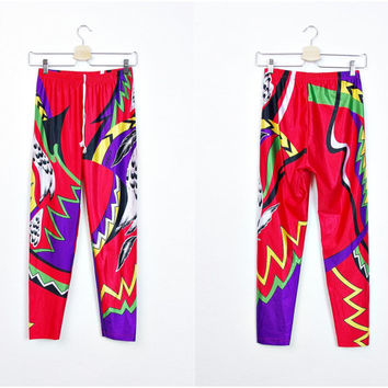90s MEDICO Cycling Leggings. High Waisted Bike Bicycle Cyclist Fixed-Gear Fixie Yoga Sport Tights Pants. Size L