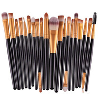20 pcs/set Makeup Brush Set (Black)