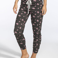 Full Tilt Dream Floral Womens Jogger Pants Black Multi  In Sizes
