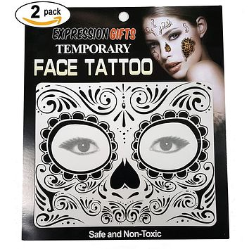 2-Pack Temporary Face Tattoo Kits