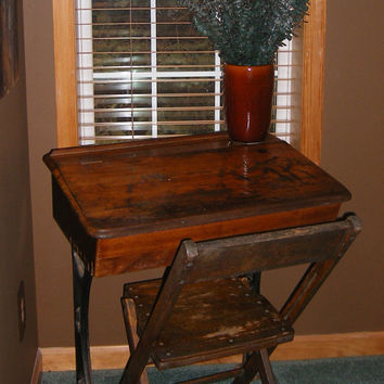 SOLD ***  Antique Desk / Vintage Desk / Antique School Desk / Primitive Decor / Student Desk