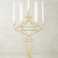 Oblique Candle Holder by Anthropologie Bronze Candelabra Candles
