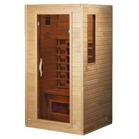 DYNAMIC SAUNAS AMZ-DYN-9101-01 Alicante 1 to 2-Person Far Infrared Sauna (Discontinued by Manufacturer)