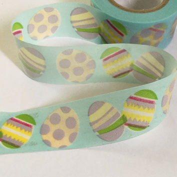 Sticky Washi Tape | Japan Adhesive Tape | Decorative Masking Tape | Scrapbooking Tools Favor Stationery | Easter Egg 10m K04
