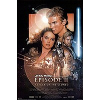 Star Wars: Episode II - Attack of the Clones Movie Group Poster Print