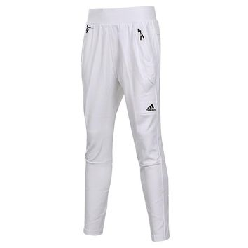 Adidas Women Solid Color Zip Stitching Casual Long Pants Sweatpants