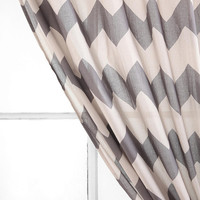 Urban Outfitters - Tonal Zigzag Curtain