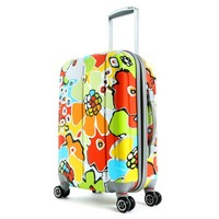 Olympia Luggage Blossom 25 Inch Expandable Vertical Rolling Upright Bag, Aqua, One Size