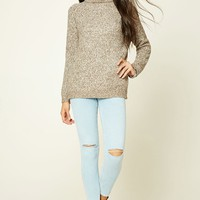 Marled Knit Turtleneck Sweater