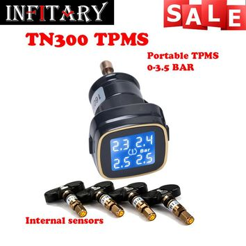 TN300 Wireless tire pressure monitoring tpms system monitor 4 internal sensors For renault peugeot toyota and all car free ship