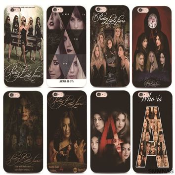 SMMNAS Who is Pretty Little Liars For iPhone 5 X 8plus Black silicone Phone Cases For iPhone 7 Plus 6 6s Plus luxury Ultra Thin