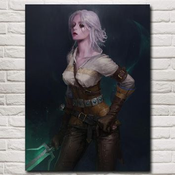 FOOCAME The Witcher 3 Wild Hunt Cirilla Game Art Silk Poster Prints Home Wall Decor Painting 12x16 18x24 24X32 Inches