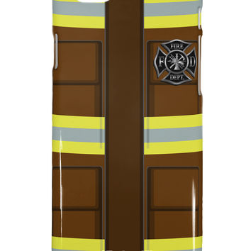 Firefighter Brown AOP iPhone 6 Plus Plastic Case All Over Print
