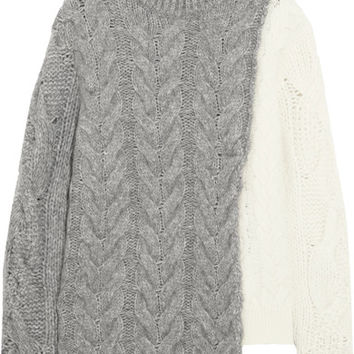 Moncler - Two-tone cable-knit sweater
