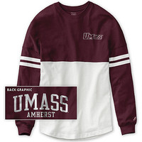 University of Massachusetts - Amherst Women's Color Block RaRa Long Sleeve T-Shirt | University of Massachusetts Amherst