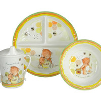 Sweet as Honey 4 Piece Dinner Set