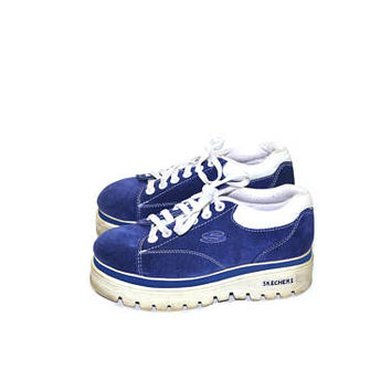 Platform Sneakers Skechers Sneakers Chunky Heel Sneakers 90s Shoes Sapphire Tennis Shoes