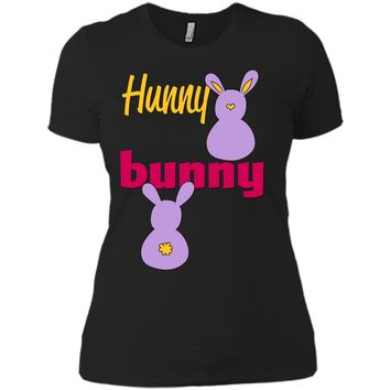 Hunny Bunny T-shirt-Funny Easter bunny t-shirt Next Level Ladies Boyfriend Tee