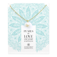 pearls of… pearl ball chain necklace, gold dipped, 18 inch - Dogeared
