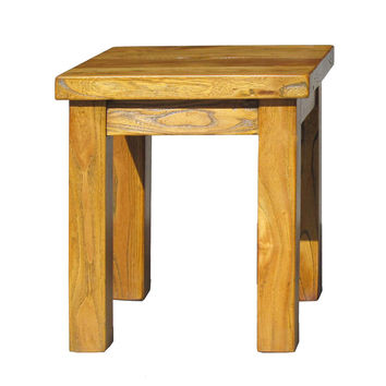 Chinese Raw Wood Rectangular Simple Stool Ottoman Table f925S