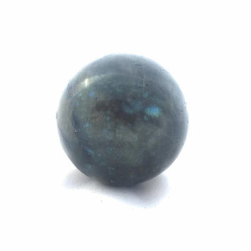 Labradorite Sphere, 65mm Sphere, Large Lab Sphere, Blue and Green Flash, Rough Garnet, Large Labradorite, Cabinet Labradorite, Blue Flash