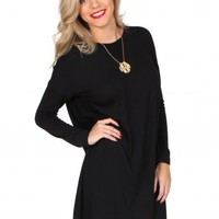 Love Myself Black Tunic Dress | Monday Dress Boutique