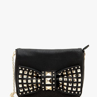 A'GACI Large Studed Bow Front Crossbody - HANDBAGS + WALLETS