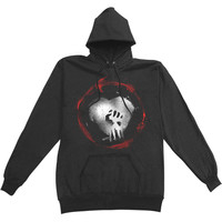 Rise Against Men's  Caution Hooded Sweatshirt Black