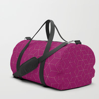 Cubed 3dPink Duffle Bag by Sheila Wenzel