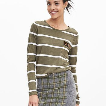 "Banana Republic Womens Stripe ""Le Tee"" Shirt"