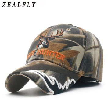 Trendy Winter Jacket Deer Mens Caps Camouflage Hunting Men Baseball Cap Snapback Hat For Women Casual Cap Bone Casquette Homme Embroidery Gorras AT_92_12