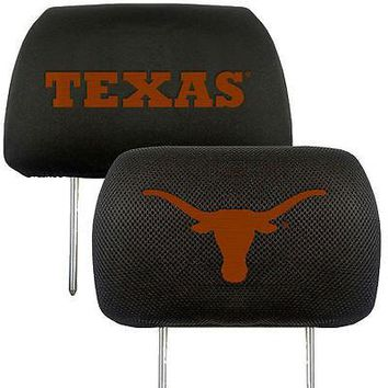 Texas Longhorns 2-Pack Auto Car Truck Embroidered Headrest Covers