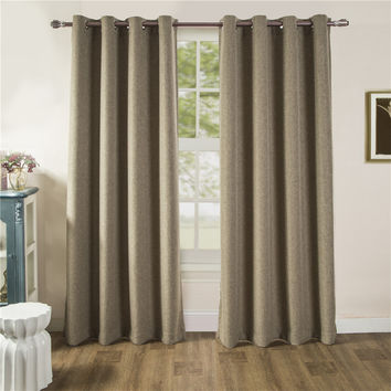 Sales for New Season 2017 ComforHome Linen Look Blackout Window Curtain, Grommets Drapes Curtains for Living room (1 Panel)