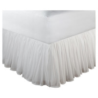 """Greenland Home Fashions Cotton Voile Bed Skirt 15"""" Drop"""