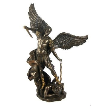 St. Michael The Archangel Bronze Look Statue Saint