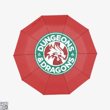 Starbucks Parody Mashup, Dragon And Dungeon Umbrella