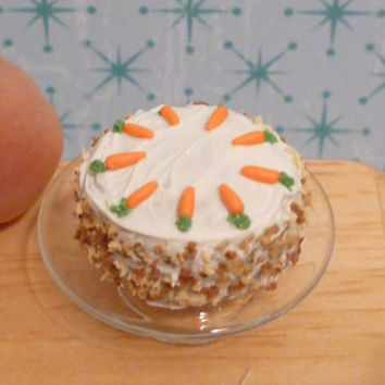 Miniature Dollhouse Carrot Cake