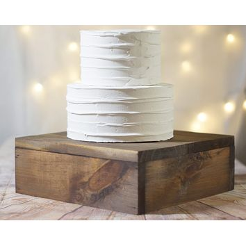 """12"""" Wood cake stand, Wooden riser box"""