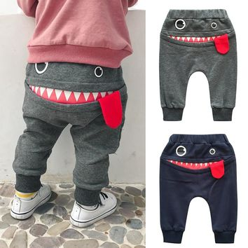 Baby Shark Tongue Pants for Boys and Girls