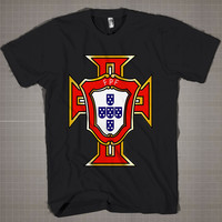 PORTUGAL Logo WorldCup  Mens and Women T-Shirt Available Color Black And White