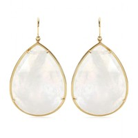 irene neuwirth - 18kt yellow gold rainbow moonstone earrings