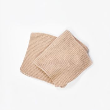 Cashmere Blend Waffle Knit Scarf
